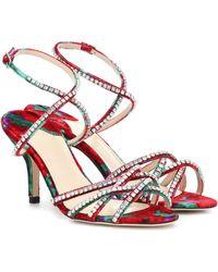 Magda Butrym Berlin Embellished Velvet Sandals - Multicolour