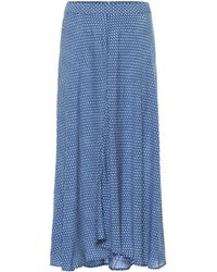 Velvet - Titania Printed Midi Skirt - Lyst