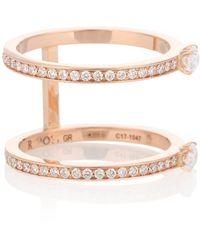 Repossi Anello Harvest in oro rosa 18kt con diamanti
