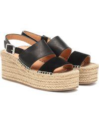 Rag & Bone Edie Wedge Sandals - Black