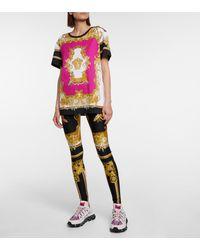 Versace Camiseta de algodón Medusa Renaissance - Rosa