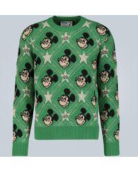 Gucci X Disney® Intarsien-Pullover - Grün