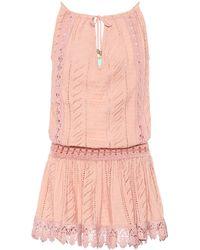 Melissa Odabash Chelsea Cotton Minidress - Pink