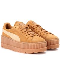 PUMA Sneakers Cleated Creeper in suede - Marrone