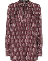 Valentino Bedruckte Bluse aus Seide - Rot