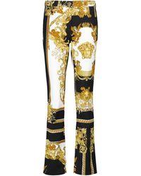 Versace Barocco Flared Jeans - Metallic