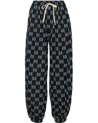 Gucci GG Cotton-jersey Trackpants - Blue