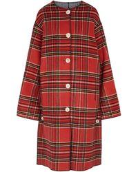 Marni Wendbarer Mantel aus Wolle - Rot