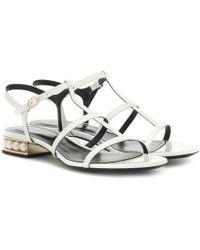 Nicholas Kirkwood Casati Leather Sandals - White