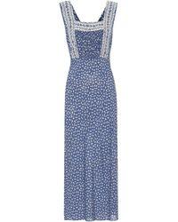 Polo Ralph Lauren Exklusiv bei Mytheresa – Bedrucktes Maxikleid - Blau