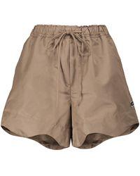 Ganni Shorts aus recyceltem Nylon - Braun