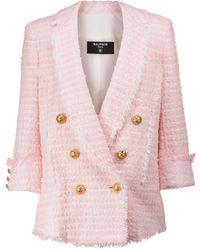 Balmain Blazer aus Tweed - Pink