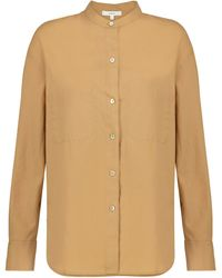 Vince Hemd aus Baumwolle und Seide - Natur