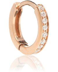 Repossi Einzelner Ohrring Berbere aus 18kt Roségold mit weißen Diamanten - Mettallic