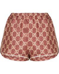 Gucci Shorts GG Supreme aus Seide - Mehrfarbig