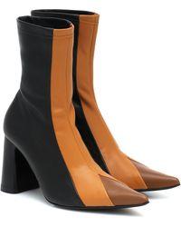 Ellery Helga Leather Ankle Boots - Black