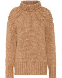 Valentino Knitted Turtleneck Jumper - Brown