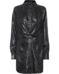 RTA Vivienne Faux Leather Minidress - Black