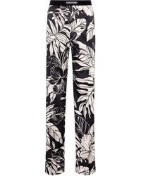 Tom Ford - Floral Stretch-silk Satin Pants - Lyst