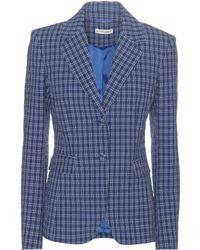 Altuzarra Fenice Cotton-seersucker Jacket - Blue
