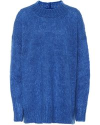 Isabel Marant Pullover Idol mit Mohair und Wolle - Blau