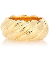 Sophie Buhai Large Rope 18kt Gold Vermeil Ring - Metallic