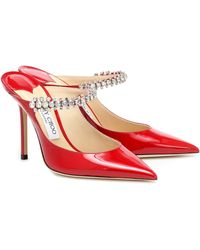Jimmy Choo Zapatos de tacón stiletto con cristales - Rojo