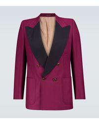Gucci Exclusivo en Mytheresa – blazer esmoquin de botonadura doble - Rosa
