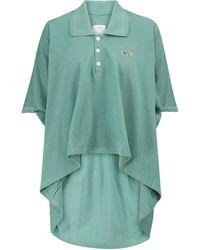 Visvim Asymmetric Cotton Polo Top - Green