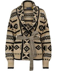 Polo Ralph Lauren Linen And Cotton-blend Cardigan - Natural