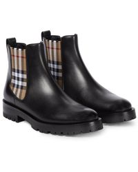 Burberry Chelsea Boots aus Leder - Schwarz