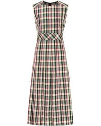Burberry - Sleeveless Checked Dress - Lyst