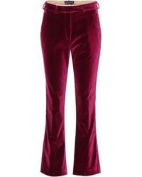 Etro Velvet Pants - Pink