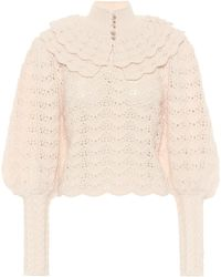 Zimmermann Ladybeetle Wool Jumper - White