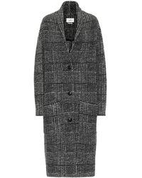 Étoile Isabel Marant Gabriel Checked Wool-blend Coat - Black