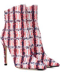 Jimmy Choo Exclusive To Mytheresa – Helaine 100 Tweed Ankle Boots - Red