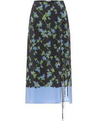 Altuzarra Felice Dip Dye Midi Skirt - Black