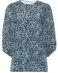 Les Rêveries - Blusa a stampa leopardo in seta - Lyst
