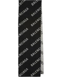 Balenciaga Schal aus Wolle - Schwarz