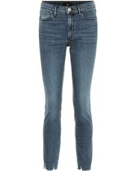 3x1 W2 Cropped Mid-rise Skinny Jeans - Blue