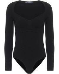 Zeynep Arcay Body de punto elastizado - Negro