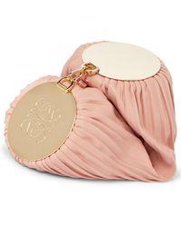Loewe Bracelet Leather Shoulder Bag - Pink