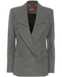 Altuzarra Eileen Stretch-wool Blazer - Grey