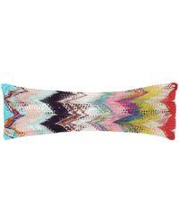 Missoni Haarband aus Häkelstrick - Mehrfarbig