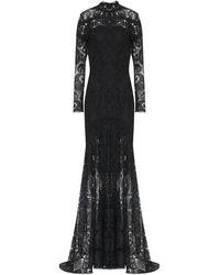 Costarellos Lace Gown - Black