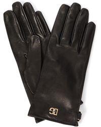 Dolce & Gabbana Gants en cuir - Noir