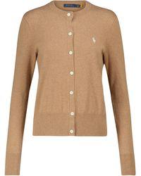 Polo Ralph Lauren Cardigan aus Baumwollgemisch - Braun
