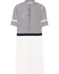 Moncler - Striped Jacquard Dress - Lyst