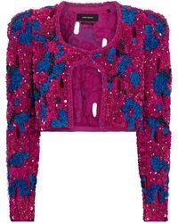 Isabel Marant Veste Vifeli raccourcie en coton à sequins - Multicolore