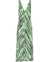 Proenza Schouler Robe midi imprimée en crêpe - Vert